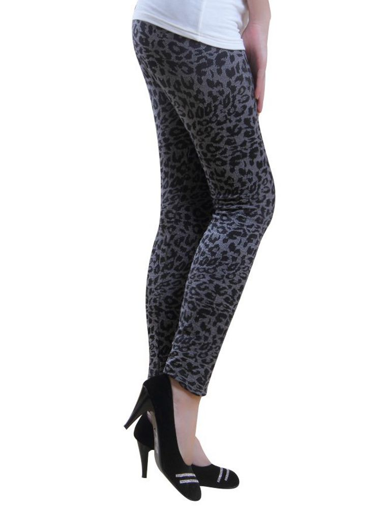 warme thermo damen leo leggings grau hose winter leopard spitze norweger s m ebay. Black Bedroom Furniture Sets. Home Design Ideas